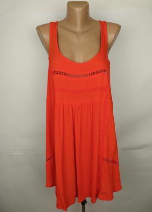 Блуза новая оранжевая кружевная натуральная большого размера yours uk 20/48/3xl