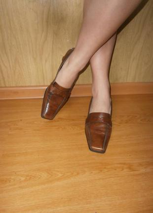 Практичные туфли из натуральной кожи