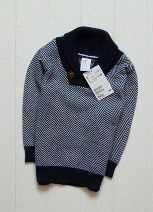 Новый шикарный свитер для мальчика. h&m. размер 9-12 месяцев