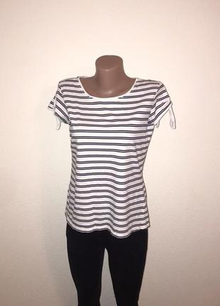 Последняя цена!🔥 стильная белая футболка в полоску women.2 фото