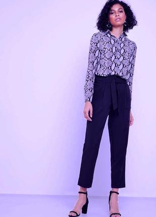 Шикарные брюки на завязке костюмная ткань