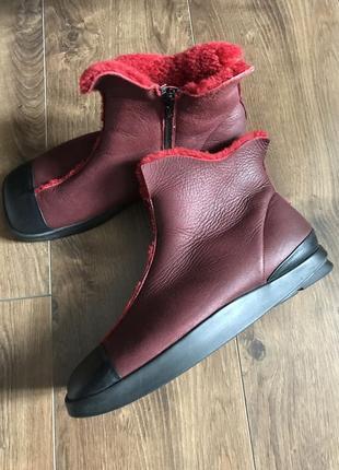 Зимние натуральные ботинки think / квадратный носок