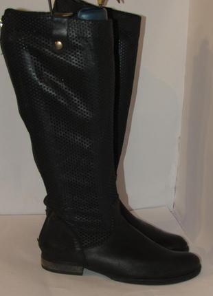 Vera gomma высокие стильные нарядные кожаные сапоги b45