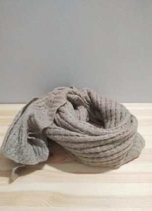 Теплый шерстяной шарф etcetera. бежевая шерстяная шаль