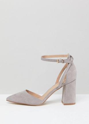 Туфли на блочном каблуке с острым носом асос asos raid