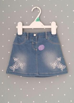 Джинсовая юбка nutmeg (англия) на 12-24 месяца (размеры 86, 92)