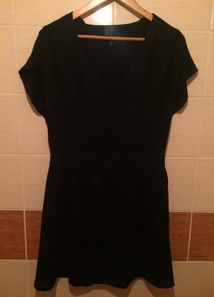 Платье черное короткое zara