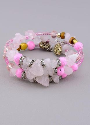 Браслет 'fj' розовый кварц 60 см. 0695000