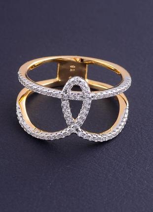 Кольцо 'xuping' фианит (позолота 18к) 0762510