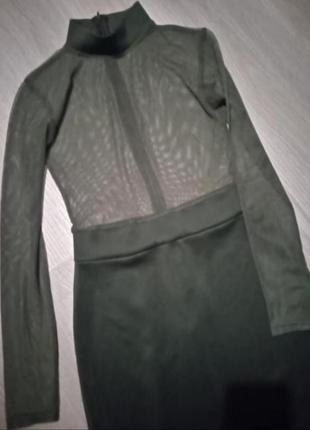 Брендовое хаки платье