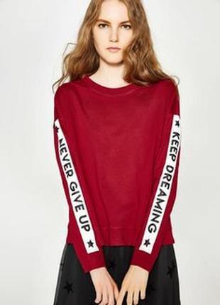Хлопковый свитшот с надписью худи ovs свитер