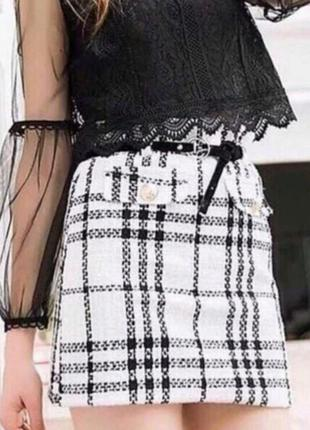 Тёплая мини юбка2 фото
