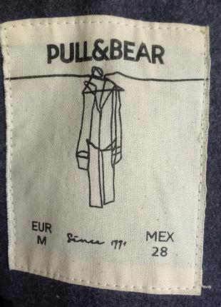 Осеннее пальто дафлкот pull & bear4