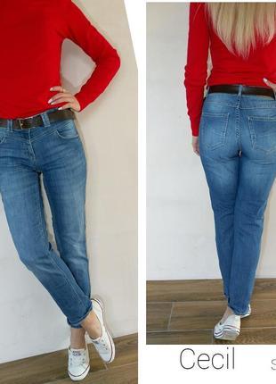 Стильные джинсы с завышенной талией cecil