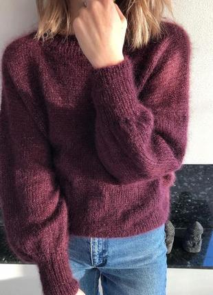 Пушистый свитер из кид мохера🍫