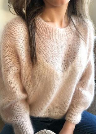 Воздушный свитер из кид мохера☁️