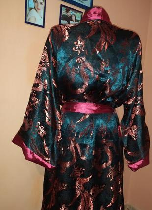 Атласный халат в японскском стиле