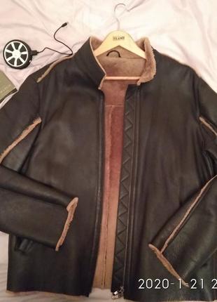 #распродажа ! кожаная куртка-дубленка от e.feretti (italia) shearling original lambskin
