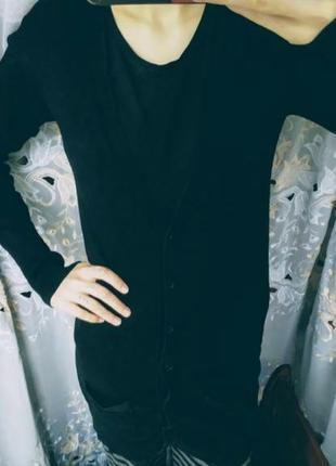 Базовый чёрный кардиган zara