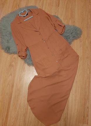 Шикарное шифоновое секси платье рубашка с вырезом missguided