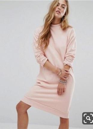 Стильное пудровое платье толстовка sissy-boy 100% коттон