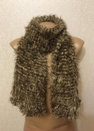 Теплый мягкий двойной шарф травка труба