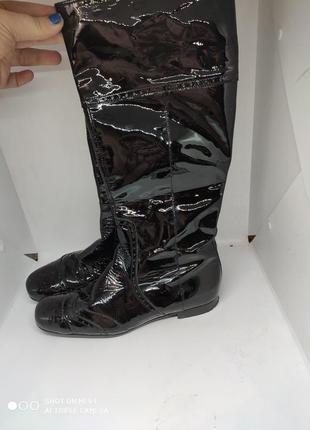 Лакированные кожаные деми сапоги 38 размер италия