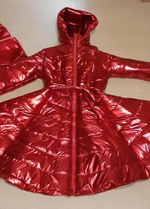 Волшебное,эксклюзивное зимное пальто ткань фольга+набор чалма снуд,комплект🔥❤❤❤