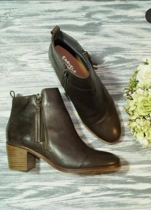 🌿40🌿европа🇪🇺 carvela. кожа. фирменные ботинки с европы