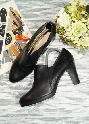 🌿41🌿европа🇪🇺 roberto santi. кожа. базовые туфли, ботильоны на устойчивом каблуке