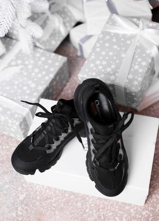 Шикарные модные кроссовки в черном цвете