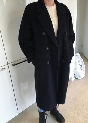 Оверсайз пальто из шерсти и кашемира