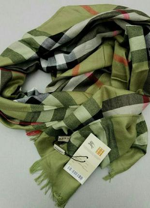 Burberry шарф кашемировый унисекс зеленый