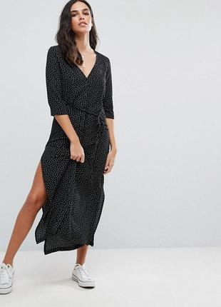 Модное платье рубашка макси большого размера