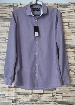 Мужская рубашка с длинным рукавом приталенная cedarwood state размер 48-50