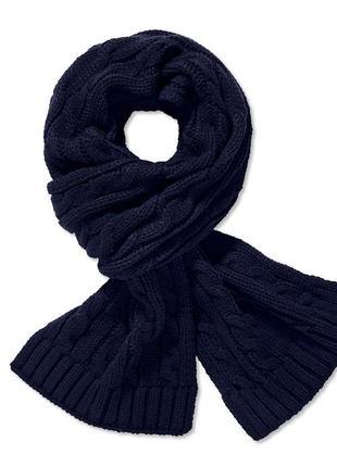 Мужской тёплый вязанный шарф ф. тсм tchibo