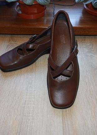 Повседневная обувь , туфли hotter melody comfort concept brown leather flat casual