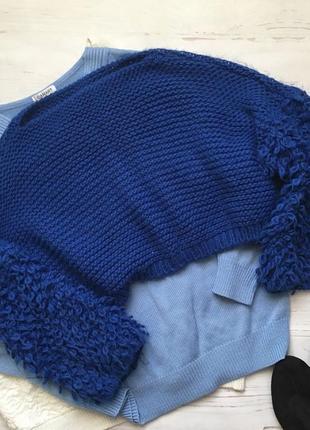 Модный короткий свитер оверсайз