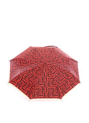 Женский зонт-автомат baldinini 28 красный в буквах