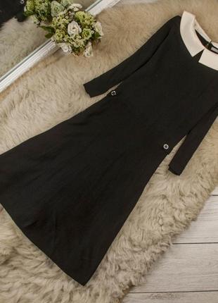 Качественное красивое  теплое трикотажное платье от tu рр 12 наш 46