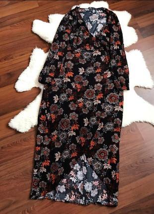 Шикарное платье на запах большого размера