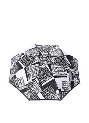 Женский зонт-автомат baldinini 45 черный с серым