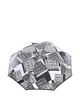 Женский зонт-автомат baldinini 45 черно-белый
