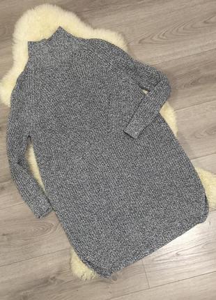 Длинный свитер платье topshop s