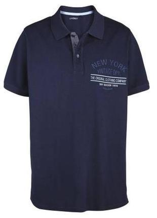 Темно синяя футболка поло, фирмы livergy