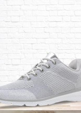 Стильные кроссовки для девочек. серебристые.