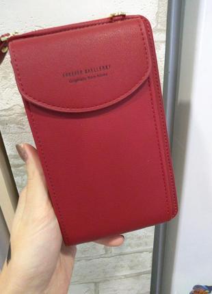 Женская сумочка клатч кошелек baellerry forever через плечо, для телефона. красный