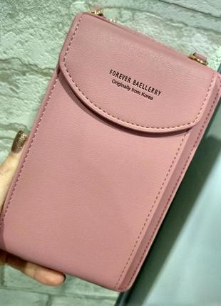 Женская сумочка клатч кошелек baellerry forever через плечо, для телефона.