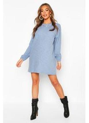 Boohoo. эффектное платье -свитшот баллон uk12 новое