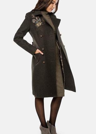 Стильное двубортное шерстяное пальто mr.520